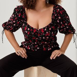 Plus Size For Love and lemons Button Front Top